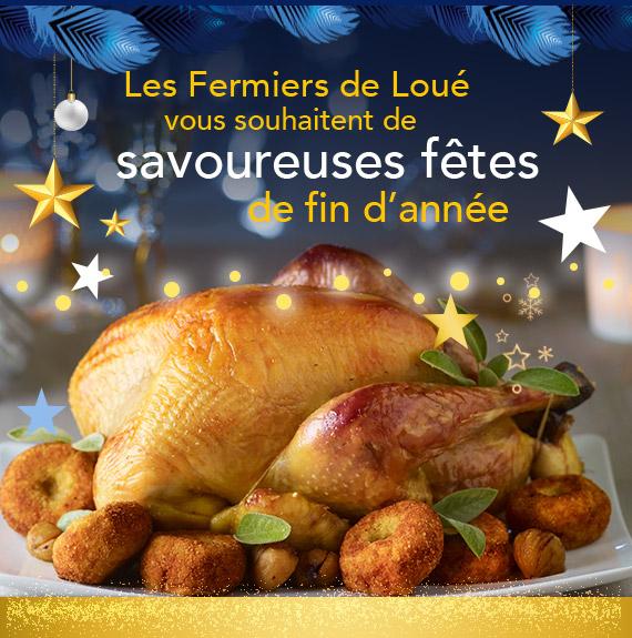 Les Fermiers de Loué vous souhaitent de savoureuses fêtes de fin d'année